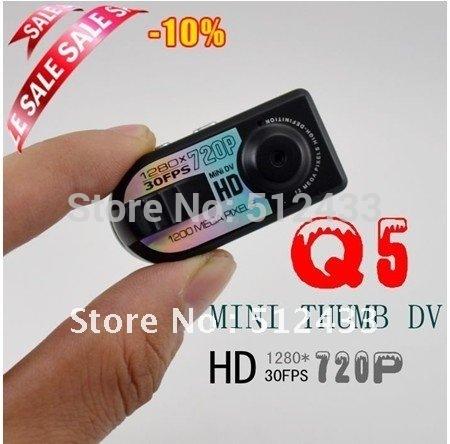 Mini HD720P 1200MP DVR Camera Q5 + Free Shipping(China (Mainland))