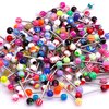 Wholesale 150pcs All Different Tongue Bars Barbell Rings Fashion High Quality Body Jewelry Factory Price Free Shipping