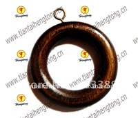pine wood curtain ring curtain holder/wooden circle special offer