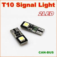 20pcs/lot New Canbus T10 W5W 2SMD 5050 LED width Lamp For signal indicator light  No error signal report