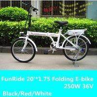 "Funride 36V 20""*1.75 250W Folding electric bike,CIF.Free-factory wholesal"