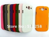Hot !Wholesale 5pcs New Thin Colorful Scrub  Hard Case Cover for Galaxy SIII I9300 Free shipping