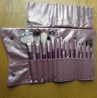 Purple red packaging senior makeup tools set set14 PCs cosmetic brush set