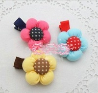 Freeshipping! 2012 New Kids/Girl/Princess/Baby rose flower Hair clips/ Ribbon Hair Pins/Hair Accessories/Kroean Style/Wholesale