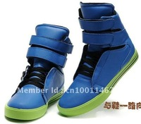 Кроссовки 2012 fashion men's shoes leather lace up causual shoes