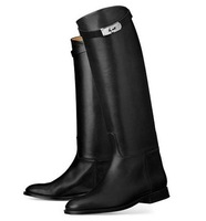 free shipping womens designer real leather black brown colors  knee boots,ladies boots