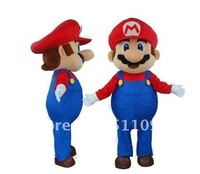 Custom Products Plush Cartoon Character Costume mascot Super Mario Free shipping
