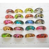 hot sale leopard resin rings fashion kids children rings mix color wholesale 100pcs /lot