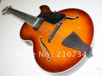 Wholesale - New Arrival 7 Strings Hollow Jazz Guitar VS Sunburst Top Musical instruments