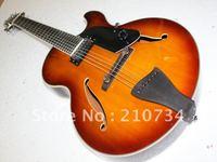 Wholesale - New Arrival 7 Strings Hollow Jazz Guitar VS Sunburst Top Musical instruments