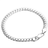 H199 wholesale silver men bracelet fashion jewelry bracelets chain 925 silver jewellery free shipping