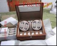 WB3404  gift box  jewelry box wooden box watch box  WATCHWINDER MUL 4X6 WATCH TAN