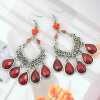 Retro Big Stones  Earring Cool Design for Fashionable Girl 36pairs/lot Free Shipping