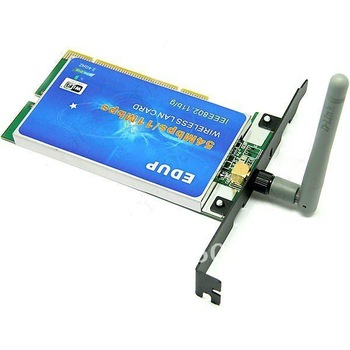 Free shipping 5pcs/lot EDUP IEEE 802.11B/ G 54Mbps PCI WiFi Adapter Card w/ Antenna 901750-JM11090723 Drop shipping