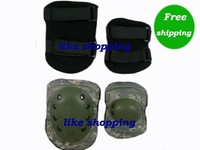 Tactical Knee and Elbow Protect Pads Set ACU free ship