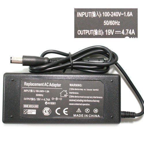 19V 4.74A 5.5x2.5 AC ADAPTER Replacment Laptop AC Power Adapter Charger for lenovo , for asus, for toshiba N102 free shipping(China (Mainland))