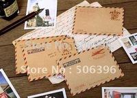 10pcs/pack Free Shipping Korean Stationery Wholesale Cute mini kraft paper gift wedding thank you birthday card envelope