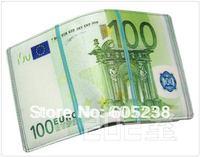 Free shipping 10pcs/lot 100 EURO BILL MONEY WALLET MAN WALLET GEEK WALLET