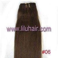 Волосы для наращивания 15' 18' 20' 22' Remy Clip In 7pcs Human Hair Extension #12