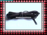 DHL Free shipping 50pairs 5mm*150cm  fat Waxed boot shoelace black