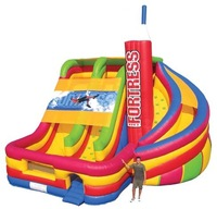 inflatable slide with play
