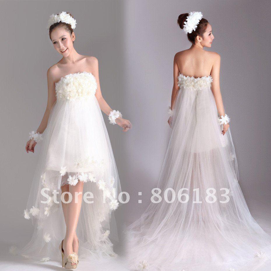 Item2003 Free Shipping 2012 Newest Style Pretty Wedding Dress Organza Suitabl