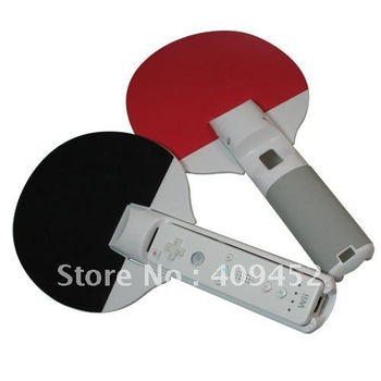 Dual Ping Pong Bats for Nintendo Wii Table Tennis Games 80021
