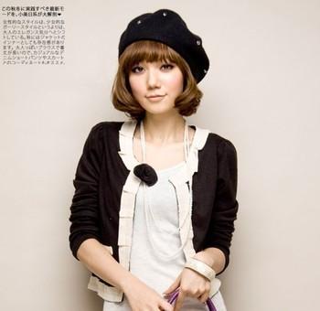 AMIO sweet cardigan slim women's short design small cardigan coat female spring and autumn