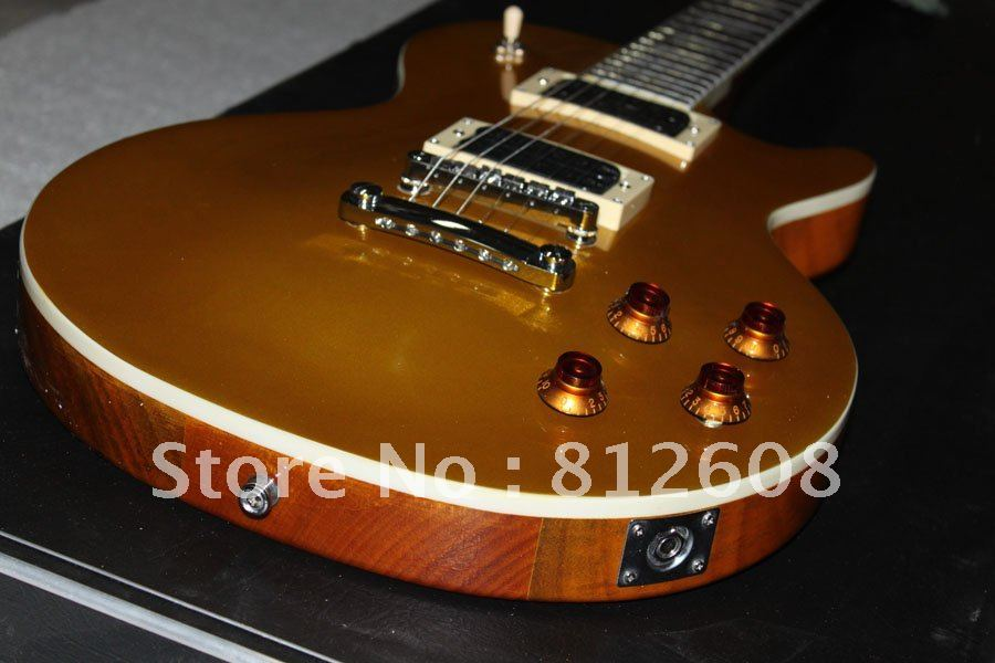 best Musical Instruments 2010 Custom gold top Electric Guitar#045F(China (Mainland))