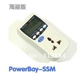 Free shipping Appliance Power Energy Monitor Plug Electricity PowerBay 220V(China (Mainland))