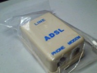 ADSL  splitter 1 IN 2 OUT,  ADSL2+ Line Filter Splitter ADSL 40pcs/lot free shipping  post air mail