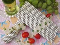 wholesale Free shipping light purple Striped Paper Straws Drinking Paper Straws 500pcs per lot