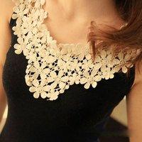 Hollow stitching thread cotton padding vest ( black )  q8413F