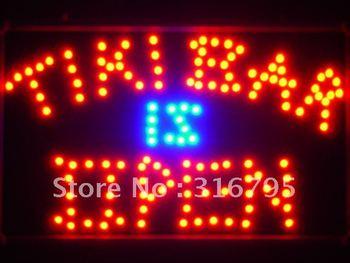 led042-r Tiki Bar is OPEN LED Neon Light Sign