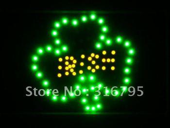 led044-g Shamrock Irish Pub Bar LED Neon Light Sign