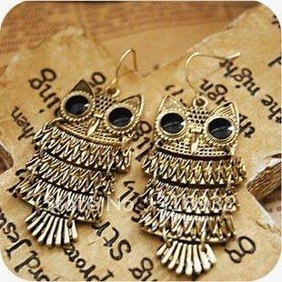 Retro owl earring ,stylish earrings, fashion jewelry