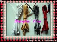 DHL free shipping  50pair/lot , 6mm width , 300cm super long  flat waxed shoelace/ wax shoelace/cotton shoelace