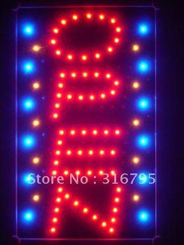 led110-r OPEN Vertical Bar NEW Led Neon Sign WhiteBoard
