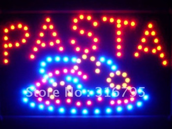 led125-r Pasta Pizza Cafe Shop Led Neon Sign WhiteBoard