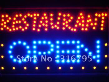 led132-b Restaurant OPEN Bar Led Neon Sign WhiteBoard