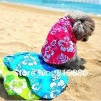 Free shipping Hawaii shirt dog couples dress clothing pet clothing dog clothes tactic DogT-shirt