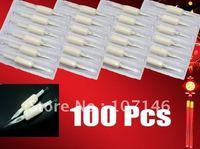 """100 Tattoo Suited Tube Grips & 100 Sterilized Tattoo Gun Needles 3/4""""(19mm) Assorted Tattoo Kits Supply"""