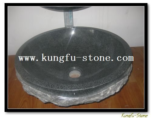 Kungfu Stone supply G654 granite wash basin+high quality sanitary ware+reliable factory+good workers+free shipping cost(China (Mainland))