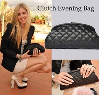 Classic Women's Caviar Leather Clutch Bag Evening Party Bag Timeless Quilted Clutch Bag Purse Free Shipping
