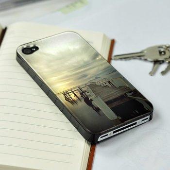 For Apple iPhone 4 4s Scenic Ocean Sunset Bridage plastic(PC) case cover skin