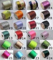 FREE SHIPPING 5pcs 2.0mm Satin/Rattail Silk Cord Chinese Knot Beading Cord 50Yard/Roll