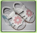 Toddler shoes sandals white  T-Strap open toe pink flowers new arrival