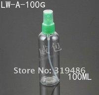 300pcs/lot  100ml PET Plastic Spray Bottle.Transparent Pump Sprayer. Moisturizer Atomizer.Perfume Bottle.LW-A-100G