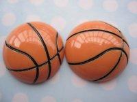 20pcs/lot, Flat back resin basketball