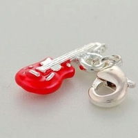 3D Silver plated zinc alloy environment friendly electric guitar charms pendant 1100 styles! 100 pcs  free shipping